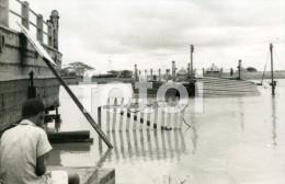 1953 REAL PHOTO POSTCARD LIMPOPO RIVER FLOODS INONDATION MOZAMBIQUE MOÇAMBIQUE AFRICA CARTE - Mozambique