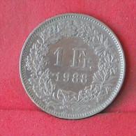 SWITZERLAND  1  FRANC  1988   KM# 24a,3  -    (Nº12111) - Schweden