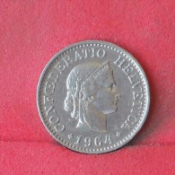 SWITZERLAND  10  RAPEN  1964   KM# 27  -    (Nº12115) - Suecia