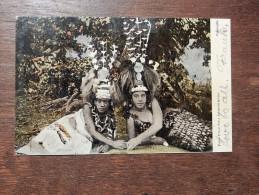 Carte Postale Ancienne :  PAGO PAGO : Siva Performers, Stamp 1906 - Samoa Américaine