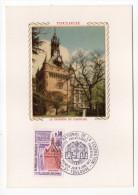 1973--Carte Maximum-Soie--TOULOUSE --Le Donjon Du Capitole --cachet  TOULOUSE--31 - Cartes-Maximum