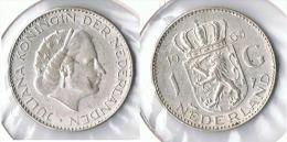 HOLANDA  GULDEN 1965 PLATA SILVER G1 - [ 3] 1815-… : Reino De Países Bajos