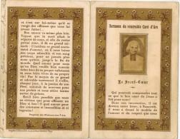 IMAGE PIEUSE HOLY Card Santini  : Sermons Du Vénérable Curé D'Ars - Le Sacré Coeur - Images Religieuses