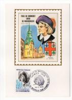 1972--Carte Maximum-Soie-P DE CHOMEDEY (fondateur De Montréal-blason,Canada)-signée Chesnot-cachet NEUVILLE SUR VANNE-10 - Cartes-Maximum