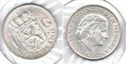 HOLANDA  GULDEN 1966 PLATA SILVER G1 - [ 3] 1815-… : Reino De Países Bajos