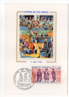 1971--Carte Maximum-Soie-Histoire-1789-Ouverture Des Etats Généraux--signée Chesnot-cachet VERSAILLES-78 - Cartes-Maximum