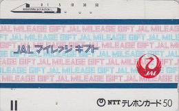 Télécarte Ancienne Japon / 110-011 - AVIATION - JAL Mileage - JAPAN AIRLINES Front Bar Phonecard  Balken TK - Avion 874 - Flugzeuge