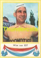 109 WIM VAN EST  PAYS BAS NEDERLAND ** VINTAGE TRADING CARD CYCLING ANCIENNE CHROMO CYCLISME WIELRENNEN COUREUR - Cyclisme