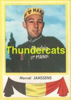 104 MARCEL JANSSENS BELGIE BELGIQUE ** VINTAGE TRADING CARD CYCLING ANCIENNE CHROMO CYCLISME WIELRENNEN COUREUR - Cyclisme