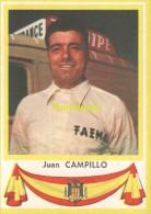 82 JUAN CAMPILLO SPAIN ESPAGNE ** VINTAGE TRADING CARD CYCLING ANCIENNE CHROMO CYCLISME WIELRENNEN COUREUR - Cyclisme