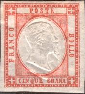 SI53D Italia Italy NAPOLI Province Napoletane.1861 5 Grana Nuovo MLH Doppia Effige - Napoli
