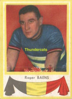 3 ROGER BAENS BELGIE BELGIQUE  ** VINTAGE TRADING CARD CYCLING ANCIENNE CHROMO CYCLISME WIELRENNEN COUREUR - Cyclisme