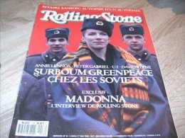 Rolling Stone Magazine : N° 16 1989 Annie Lennox Peter Gabriel U2 Bowie - Sonstige