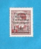 1942  2  MONTENEGRO CRNA GORA DEUTSCHE BESETZUNG     NEVER HINGED - Occupation 1938-45