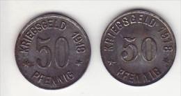 Oberlogau - 2 X 50 Pfennig Différent - - Monetari/ Di Necessità