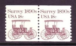 U.S. 1907x2  **  SURREY - Coils & Coil Singles