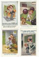 Lot De 5 CPA-humour Anglais- Séries 4 Comique Et 1 Lafayette (enfant Haltères)-Donald Mac Gill - Humour