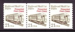 U.S. 2265X3  **  RAILROAD MAIL CAR - Coils & Coil Singles