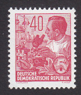 DDR. Scott #200, Mint Never Hinged, Laboratory Worker, Issued 1954 - [6] Democratic Republic