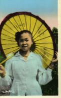 Carte Photo Laos Xieng Khouang Jeune Fille1954 - Laos