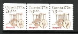 U.S. 2255X3   **  CARRETA - Coils & Coil Singles