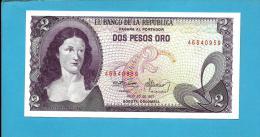 COLOMBIA - 2 Pesos Oro - 20.07.1977 - Pick 413.b - UNC. -  Policarpa Salavarietta - 2 Scans - Colombia