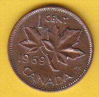 CANADA - 1969 Circulating 1¢ Coin (#1969-01-01) - Canada