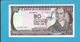COLOMBIA - 50 Pesos Oro - 01.01.1986  - Pick 425.b - UNC. - Camilo Torres - 2 Scans - Colombia