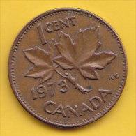 CANADA - 1973 Circulating 1¢ Coin (#1973-01-01) - Canada