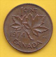 CANADA - 1974 Circulating 1¢ Coin (#1974-01-01) - Canada