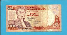 COLOMBIA - 100 Pesos Oro - 01.01.1987  - Pick 426.c - General Antonio Nariño - 2 Scans - Colombia