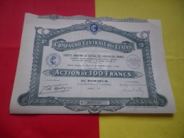 COMPAGNIE CENTRALE DES ETAINS (100 Francs) Serie A - Shareholdings