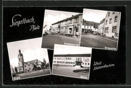 AK Kaiserslautern, Schule, Strassenpartien Mit Geschäften, Kirche - Kaiserslautern