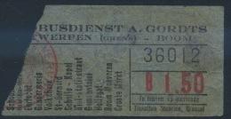 TICKET DE BUS DE ANVERES  // 1929
