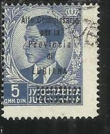 LUBIANA 1941 ALTO COMMISSARIATO 5 D USATO USED OBLITERE´ - 9. Ocupación 2ª  Guerra (Italia)