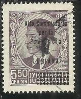 LUBIANA 1941 ALTO COMMISSARIATO 5,50 D USATO USED OBLITERE´ - 9. Ocupación 2ª  Guerra (Italia)