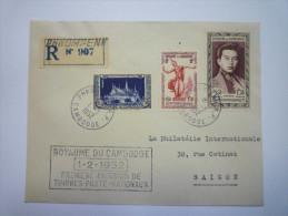 Lettre Au Départ De  PHNOM-PENH  à Destination De  SAÏGON  -  SUP  Affranchissement   XXX   1952 - Cambodge
