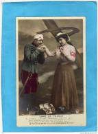Dame De Françe-infirmière Croix Roouge*-avec Soldat Bléssé-Patriotique édition Croissant - War 1914-18