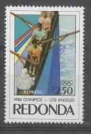 Cinderella Bogus Redonda Giochi Olimpici Los Angeles Canottaggio Rowing MNH ** - Etichette Di Fantasia