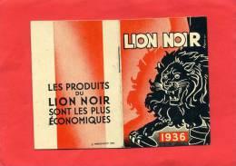 CALENDRIER 1936 LION NOIR CIRAGE CREME POUR CHAUSSURE - Klein Formaat: 1921-40