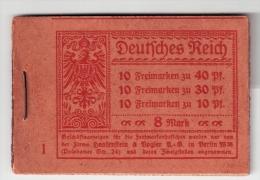 DR, 1921, MH 14.1, Mi. 250.- . #2452 - Markenheftchen