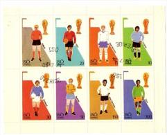 SUEDE 1974   FEUILLET 8 VALEURS  COUPE DU MONDE DE FOOTBALL  OBLITERATION - Coppa Del Mondo