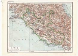 Lazio - Mappa Cartina Originale D´epoca - Mappe