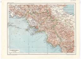 Campania - Mappa Cartina Originale D´epoca - Mappe