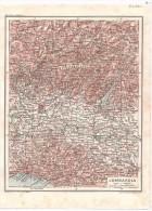 Lombardia - Mappa Cartina Originale D´epoca - Mappe