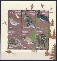 UKRAINE 1997 1 Block MNH  Wild ANIMALS  Bird Birds  Oiseaux Oiseau Eagle Black Stork Hedgehog Wild Boar - Arends & Roofvogels