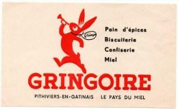 Buvard : Produits Alimentaires, Gringoire, Biscuits, Confiserie, Pain D'épices, Miel. - Sucreries & Gâteaux