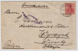 Polen, 1920, Seltener Zensur-Stp., #2468 - 1919-1939 Republic