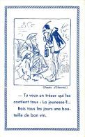 Illustrateur Henriot Amusant Dessin Pub Pour Le Vin   Thème Aussi Diable  Cpa - Künstlerkarten
