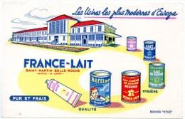 Buvard : France-lait, Saint Martin Belle Roche, Saône Et Loire. - Produits Laitiers